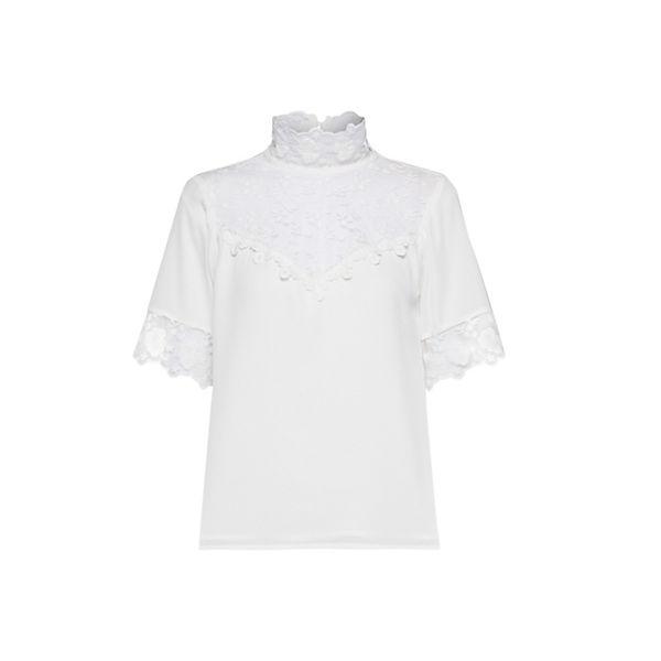 Fashion Union Weiß Kurzarmblusen Alyx Bluse 4Rq35ALj