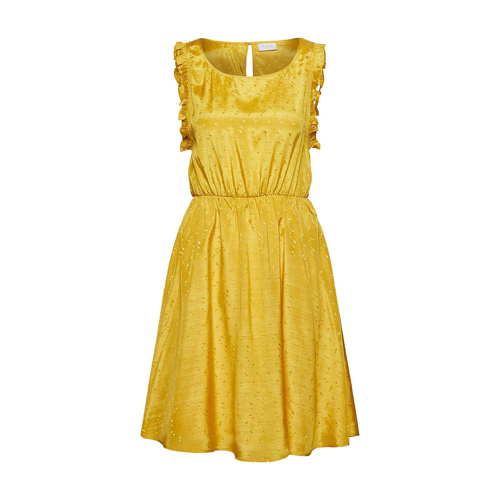 VILA Sommerkleid Sommerkleider gelb Damen Gr. 42