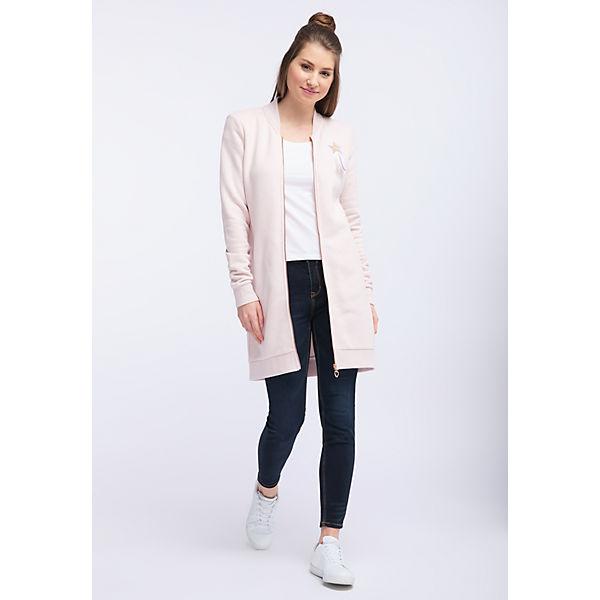 Weicher Jacke Aus Mymo Rosa Trendige Sweatware 0NwnOX8Pk