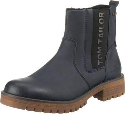 TOM TAILOR, Chelsea Boots, dunkelblau