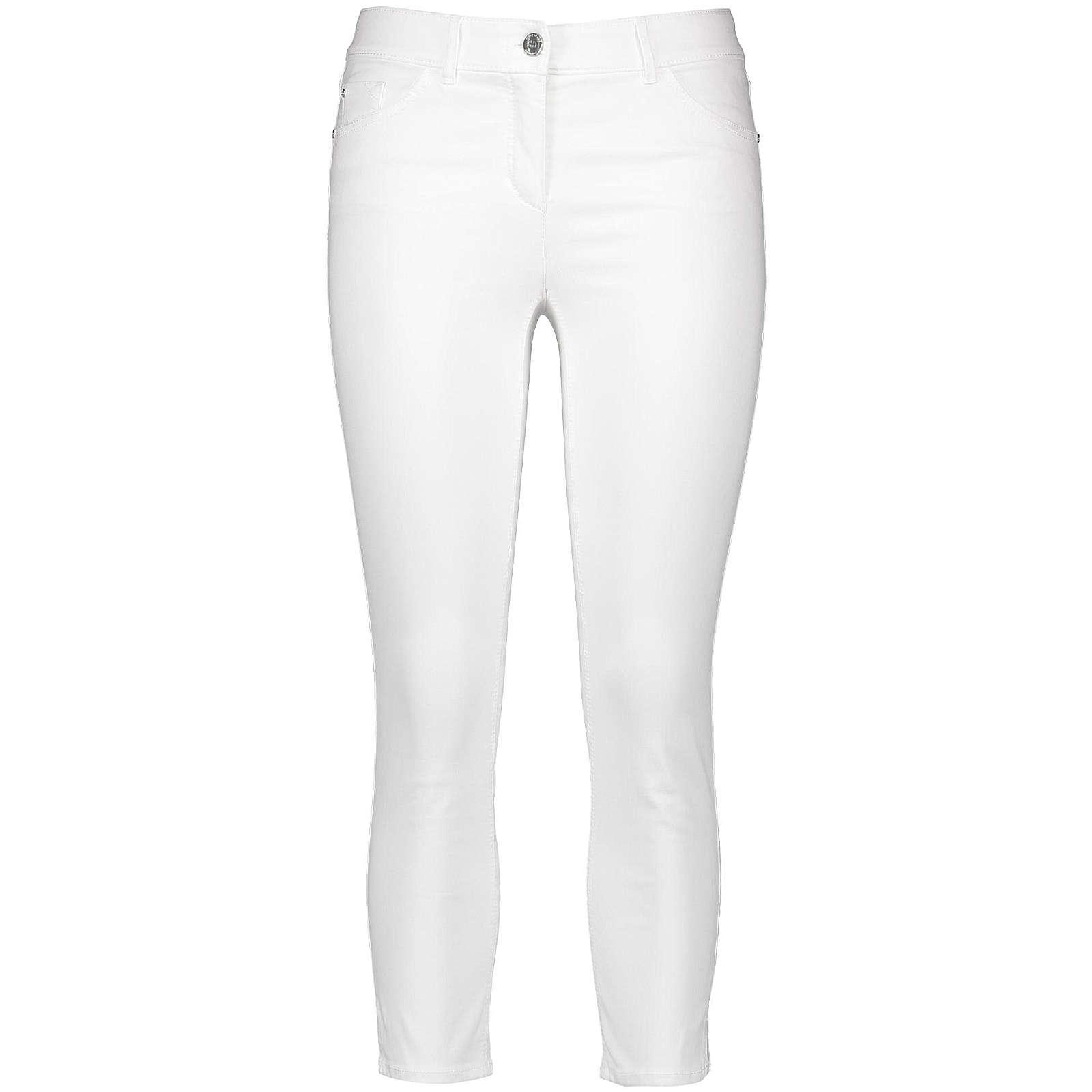 Gerry Weber Hose Jeans verkürzt Verkürzte 5 Pocket Hose offwhite Damen Gr. 38