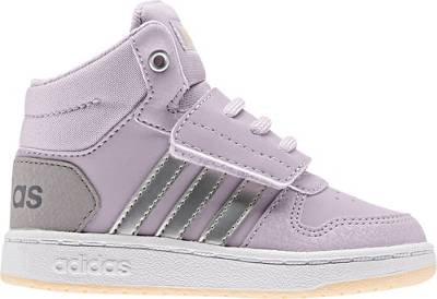 adidas Sport Inspired, Baby Sneakers High HOOPS MID 2.0 I für Mädchen, lila kombi