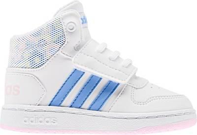 adidas Sport Inspired, Baby Sneakers High HOOPS MID 2.0 I für Mädchen, blauweiß