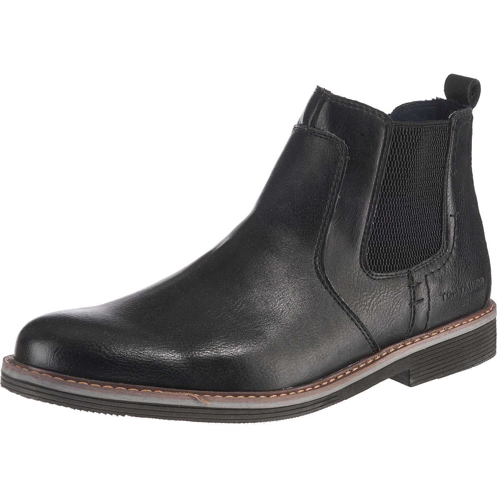 TOM TAILOR Chelsea Boots schwarz Herren Gr. 40