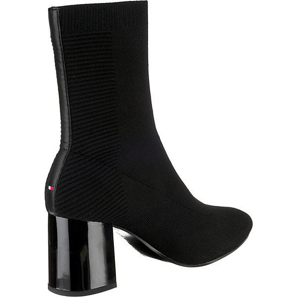 Schwarz Hilfiger Sock Boots Melis Tommy tsrCohBdQx