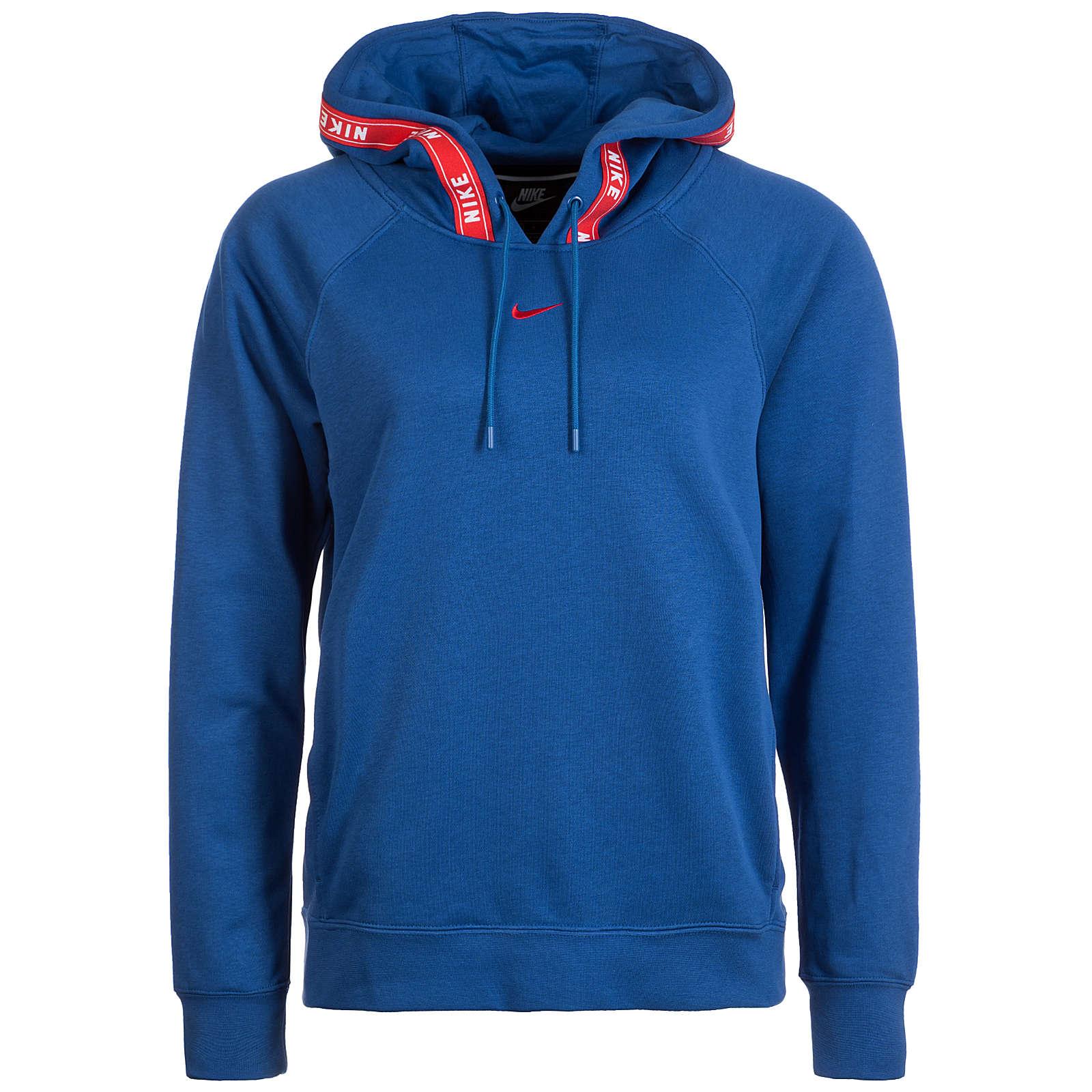 Nike Sportswear Logo Tape Kapuzenpullover Damen blau Damen Gr. 40