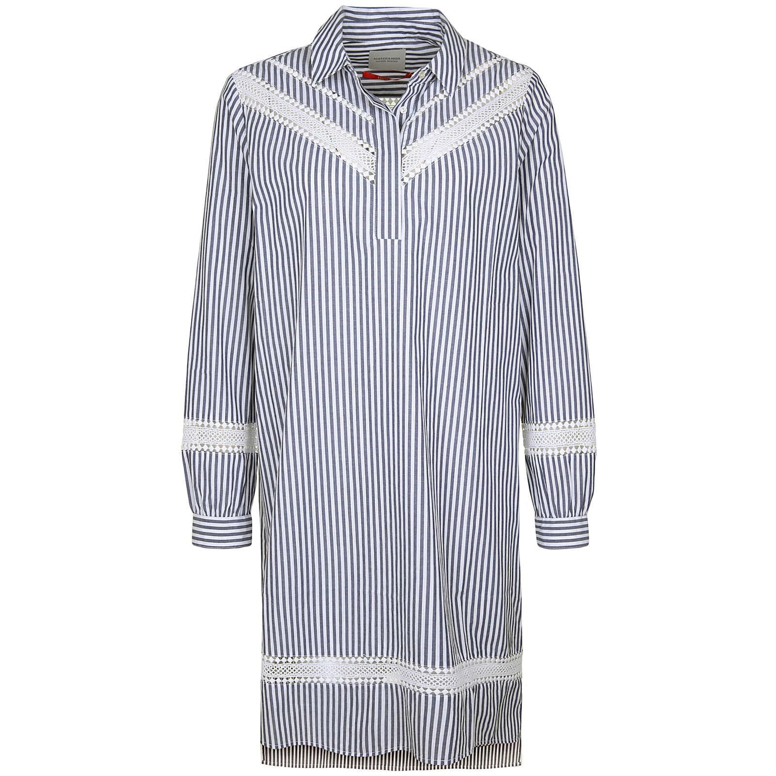Scotch & Soda Blusenkleid mit Spitze Blusenkleider bunt Damen Gr. 40