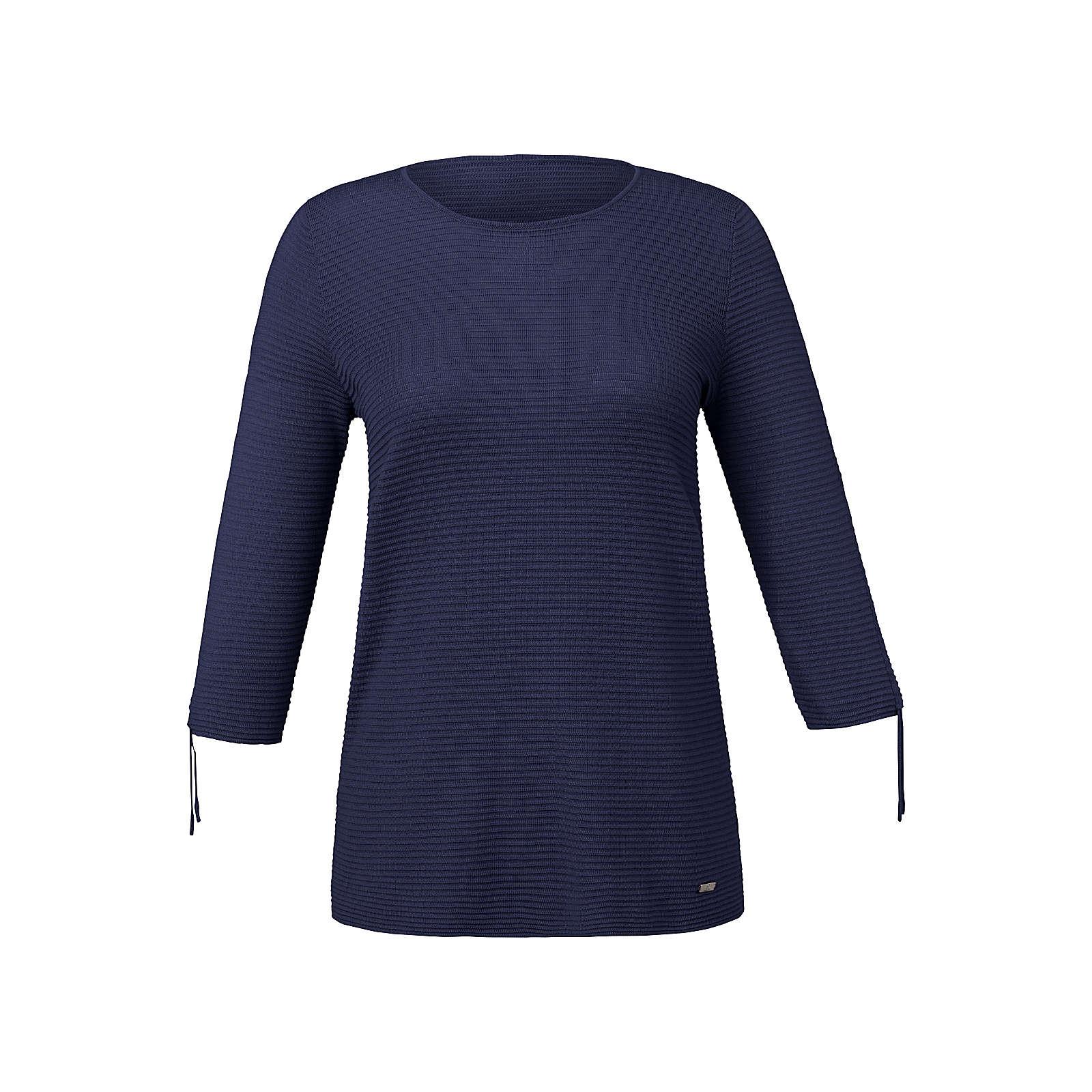 EMILIA LAY Pullover Pullover mit 3/4-Arm Pullover blau Damen Gr. 52