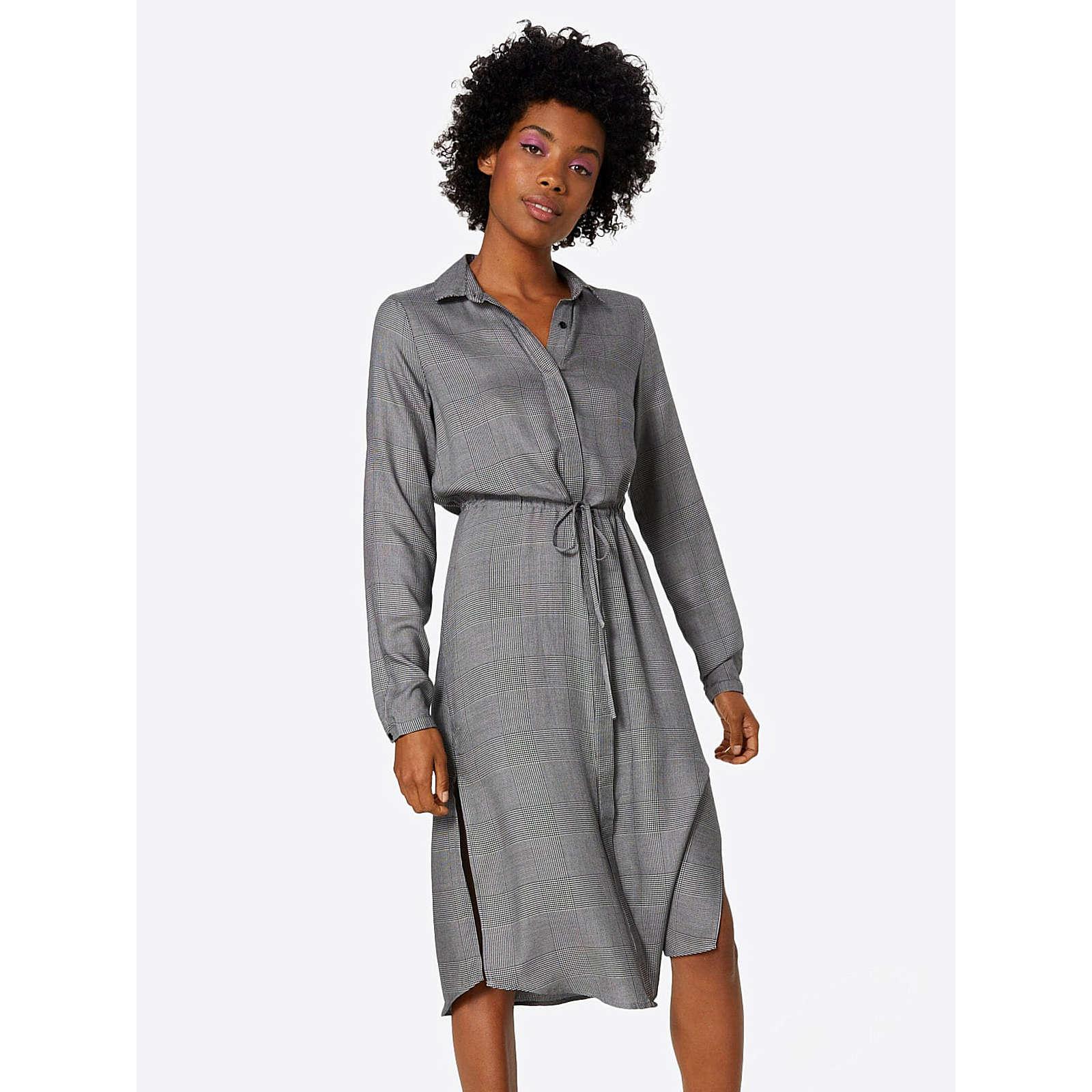 VILA Blusenkleid Blusenkleider grau Damen Gr. 36