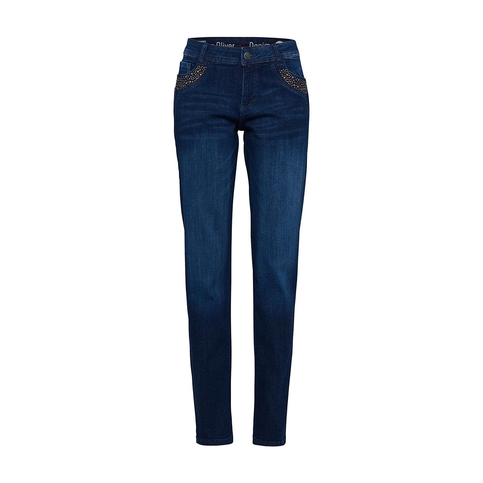 s.Oliver RED LABEL Jeans SMART STRAIGHT Jeanshosen blue denim Damen Gr. 36/L32