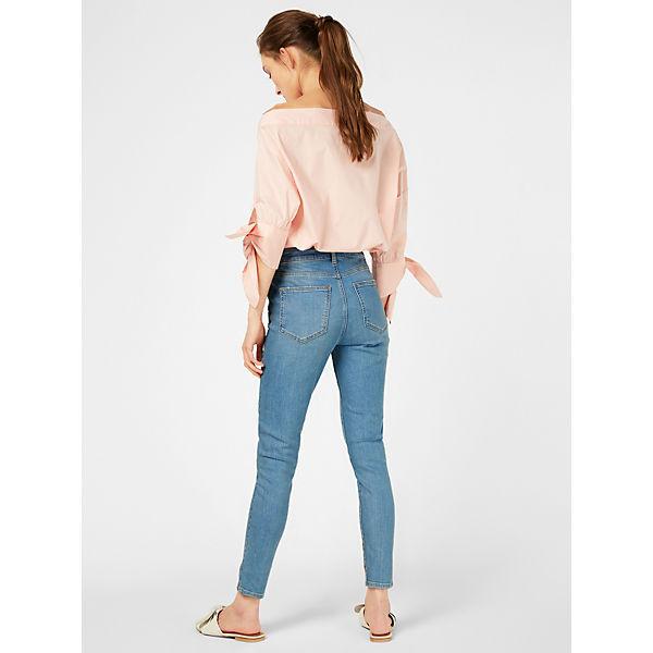 Denim Print Jeanshosen Ankle Noisy May Jeans Flower Blue 2EDH9I