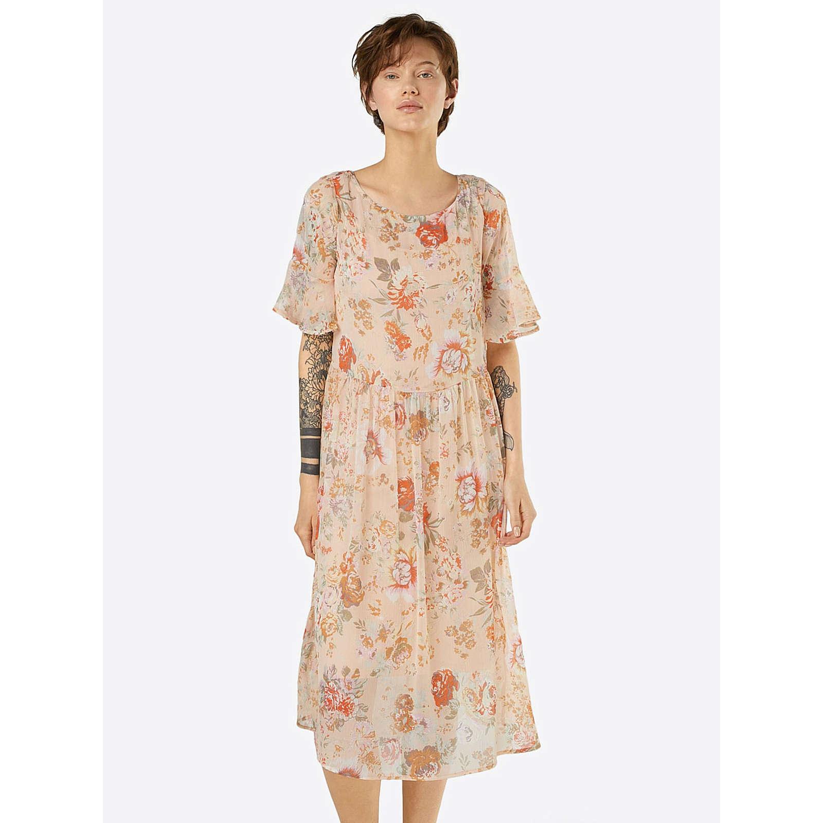 VILA Sommerkleid Sommerkleider orange Damen Gr. 34