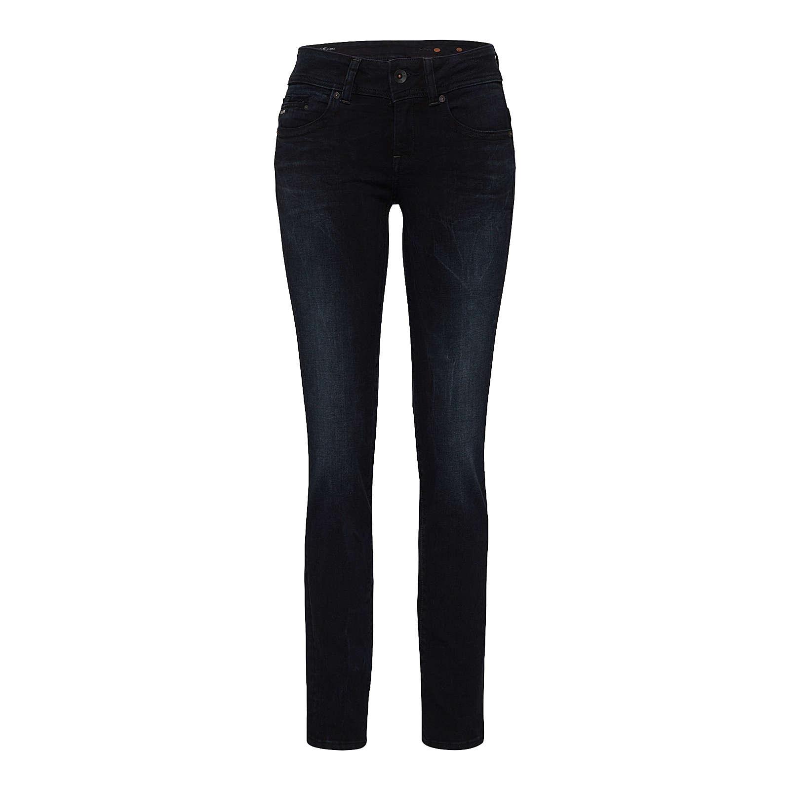 G-STAR RAW Jeans Midge Saddle Mid Straight Jeanshosen black denim Damen Gr. W24/L32