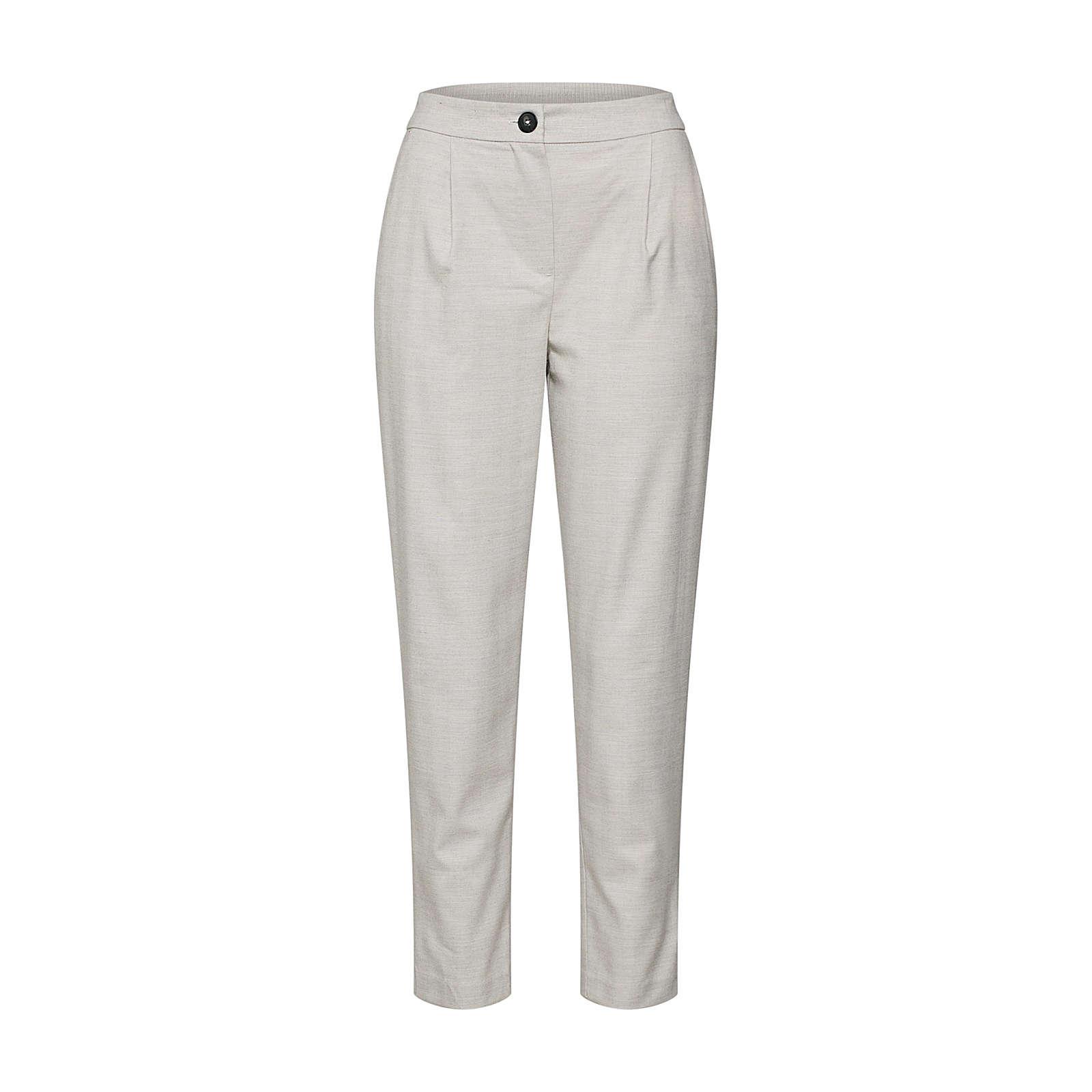 NEW LOOK Bundfaltenhose Stoffhosen grau Damen Gr. 40