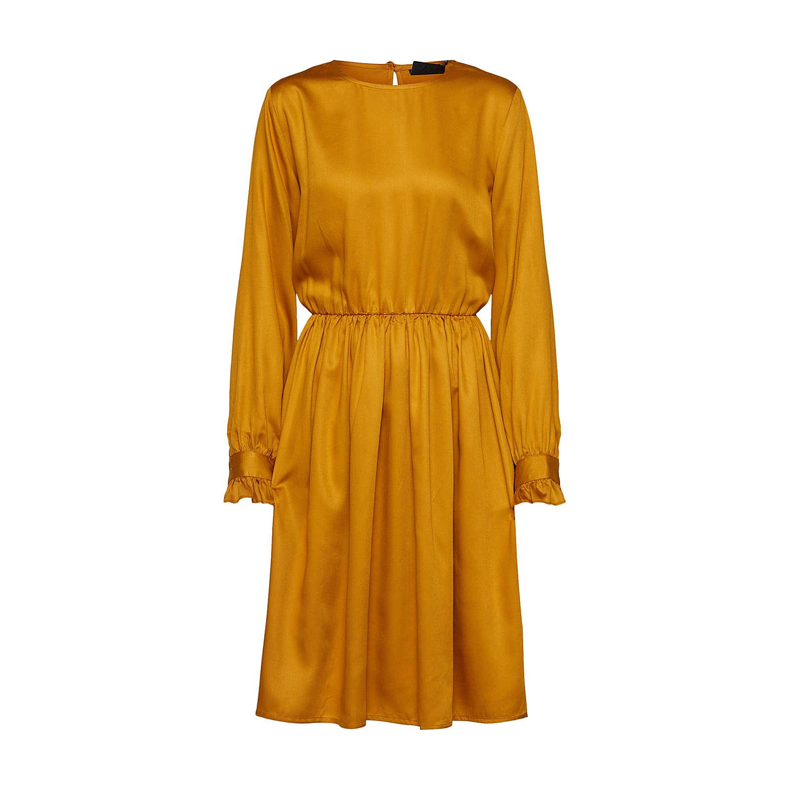 OBJECT Blusenkleid Blusenkleider gold Damen Gr. 38
