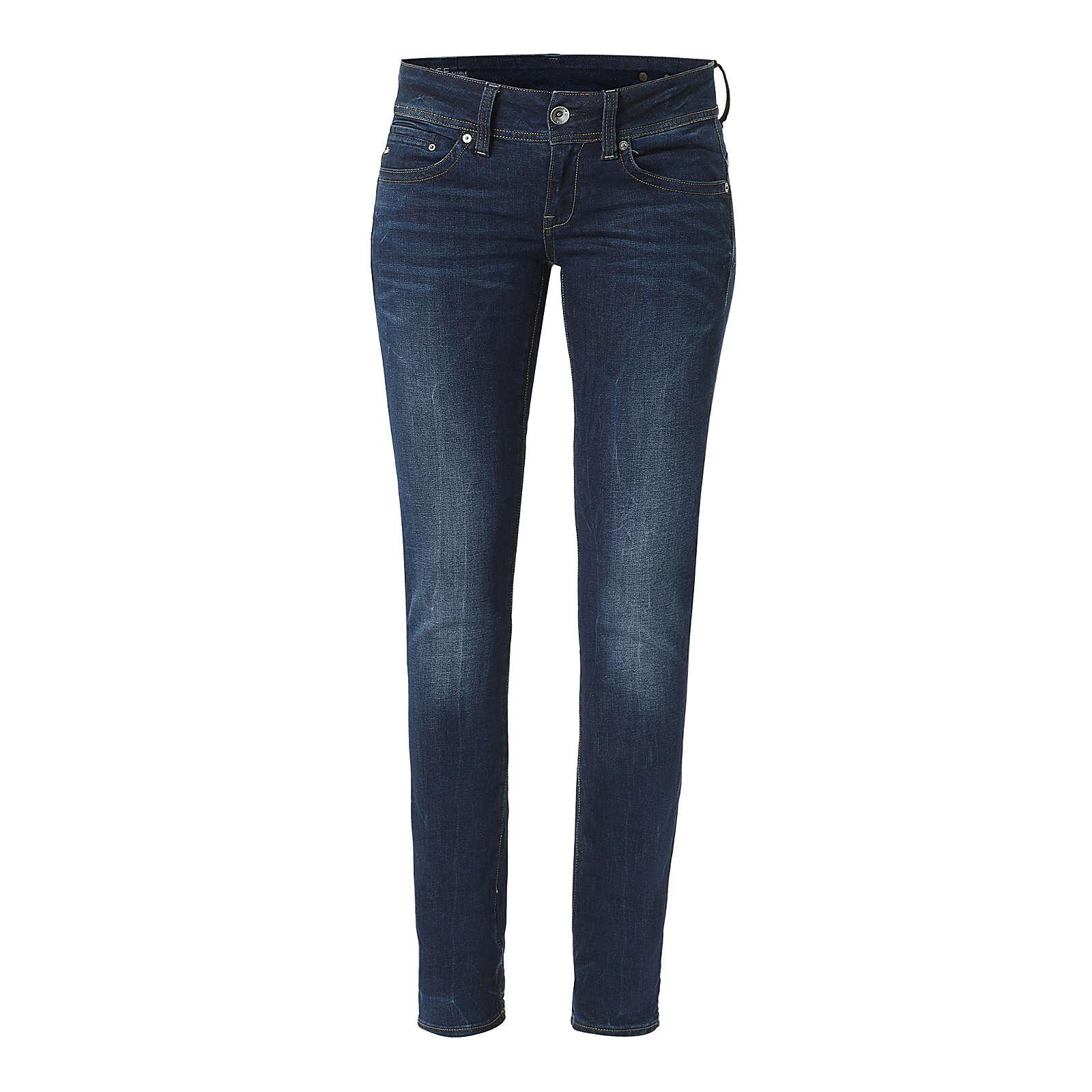G-STAR RAW Jeans Midge Saddle Mid Straight Jeanshosen blau Damen Gr. W31/L30