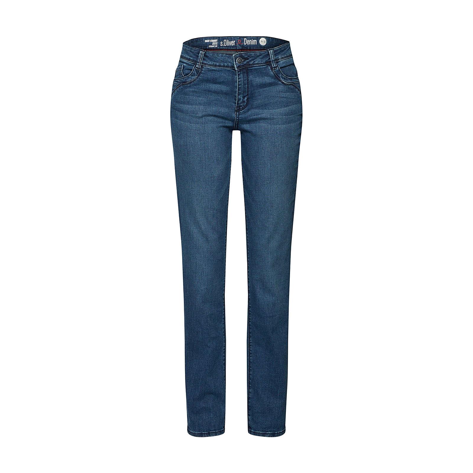 s.Oliver RED LABEL Jeans SMART STRAIGHT Jeanshosen blue denim Damen Gr. 38/L34