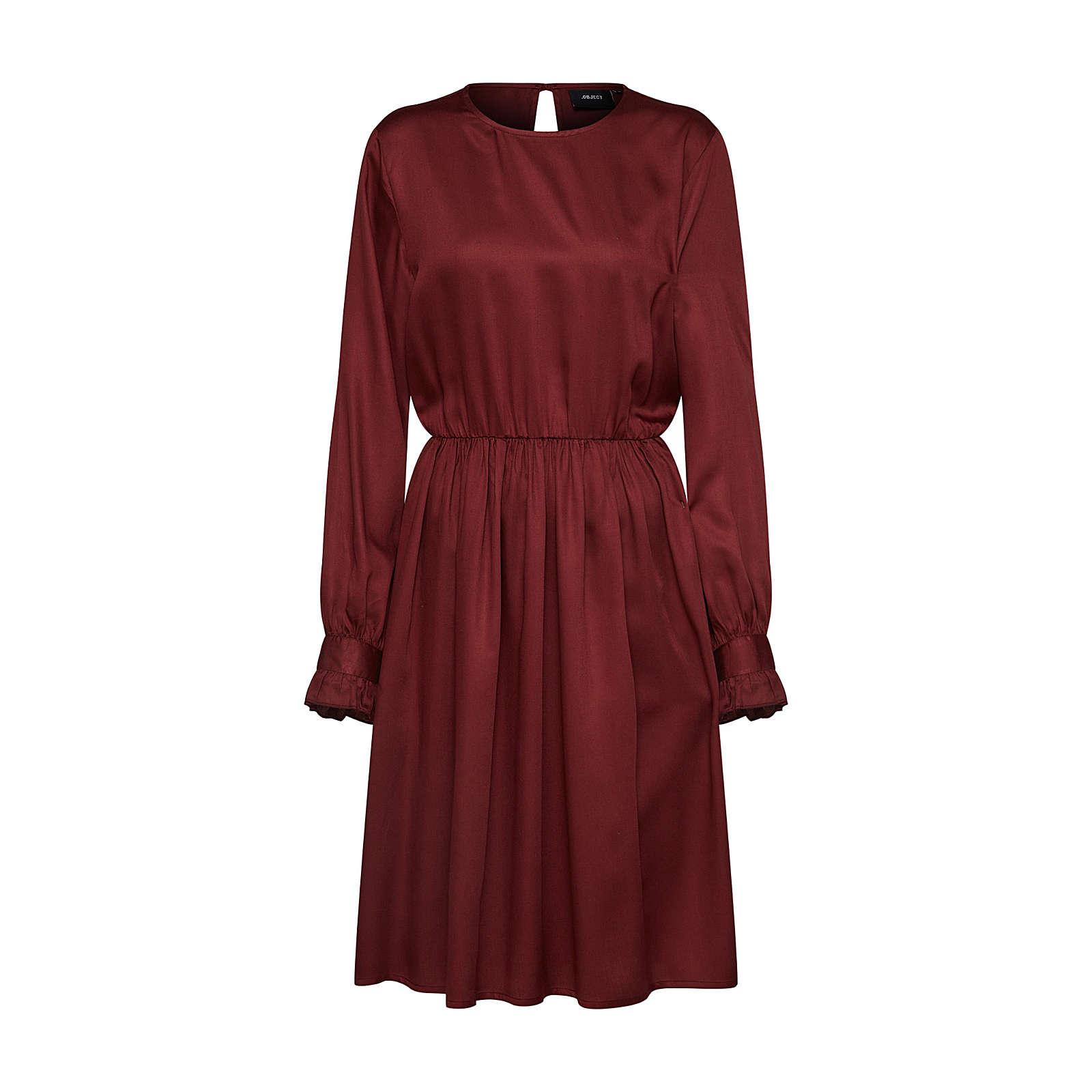 OBJECT Blusenkleid Blusenkleider bordeaux Damen Gr. 34