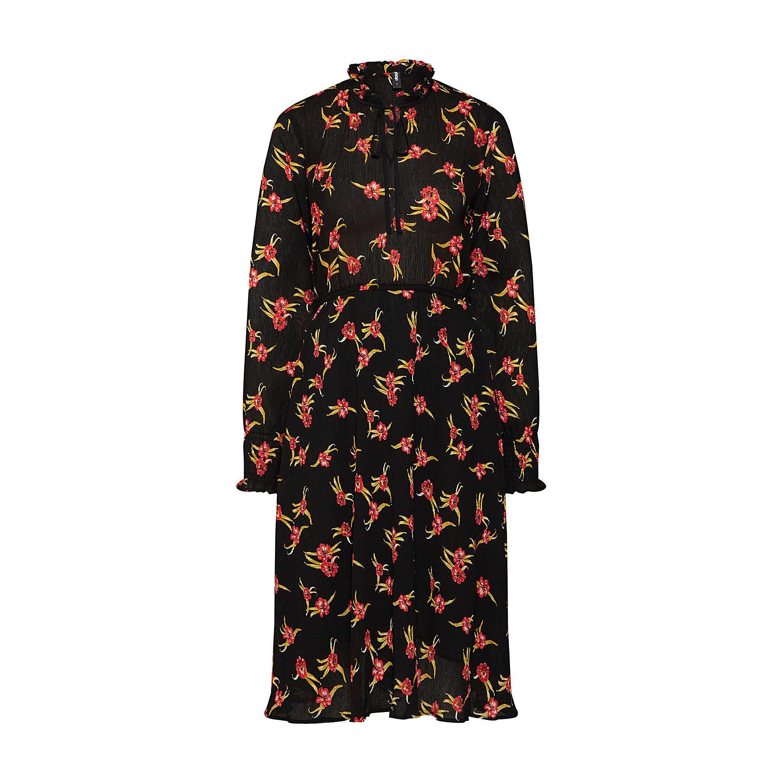 eksept Blusenkleid Blusenkleider schwarz Damen Gr. 36