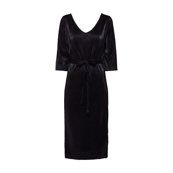 amp;odd Kleid Plisse Wrap Schwarz Evenamp; Kleider Dress Even Odd FK1TulJc53