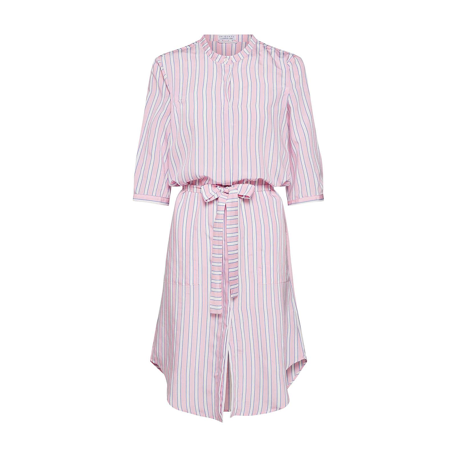 re.draft Blusenkleid Blusenkleider rosa Damen Gr. 40