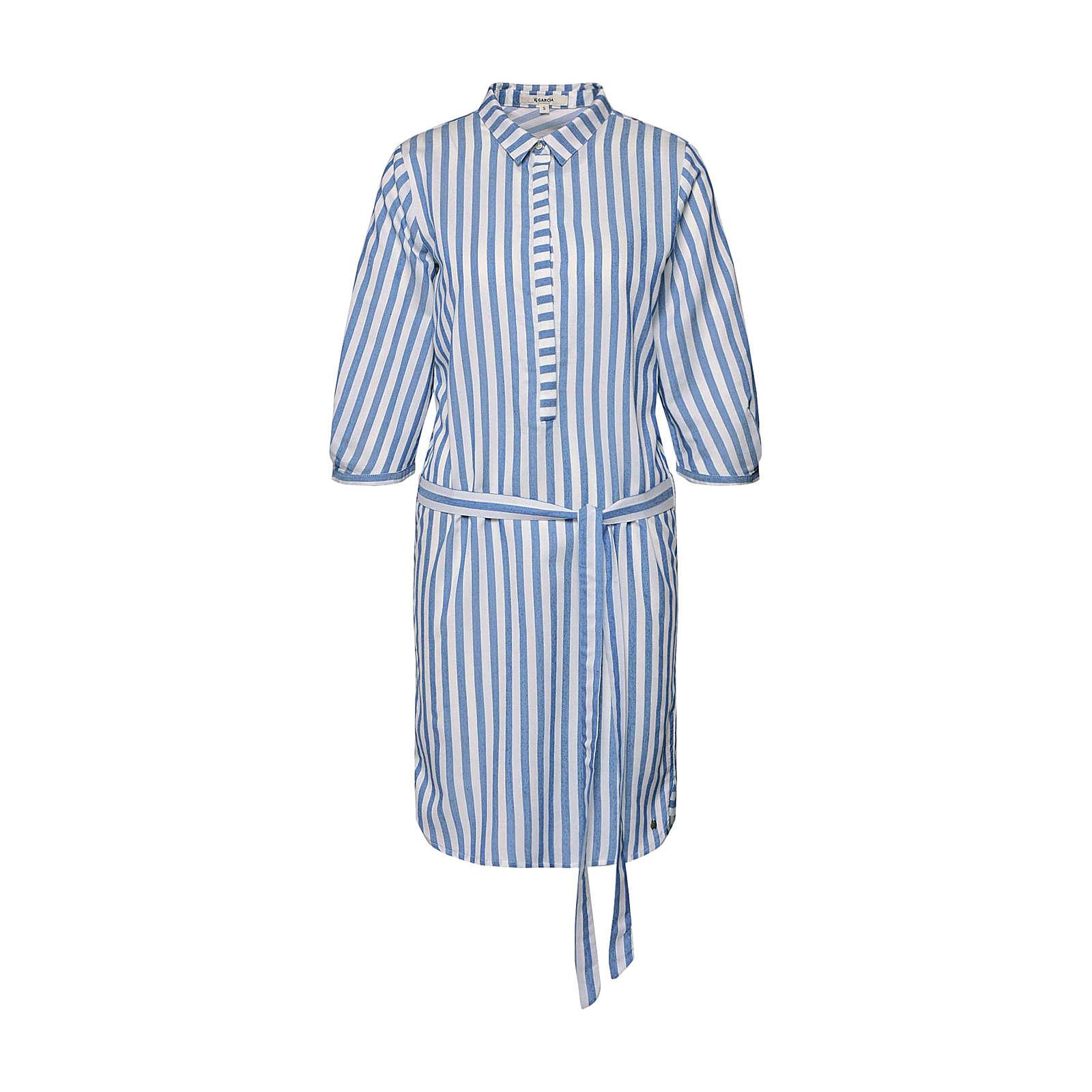 GARCIA Blusenkleid Blusenkleider weiß Damen Gr. 38