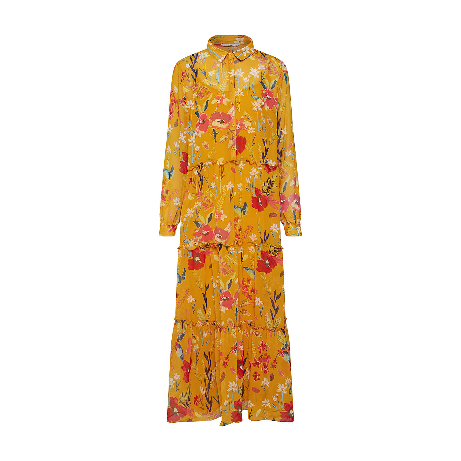 ONLY Blusenkleid onlNORA Blusenkleider rot Damen Gr. 34