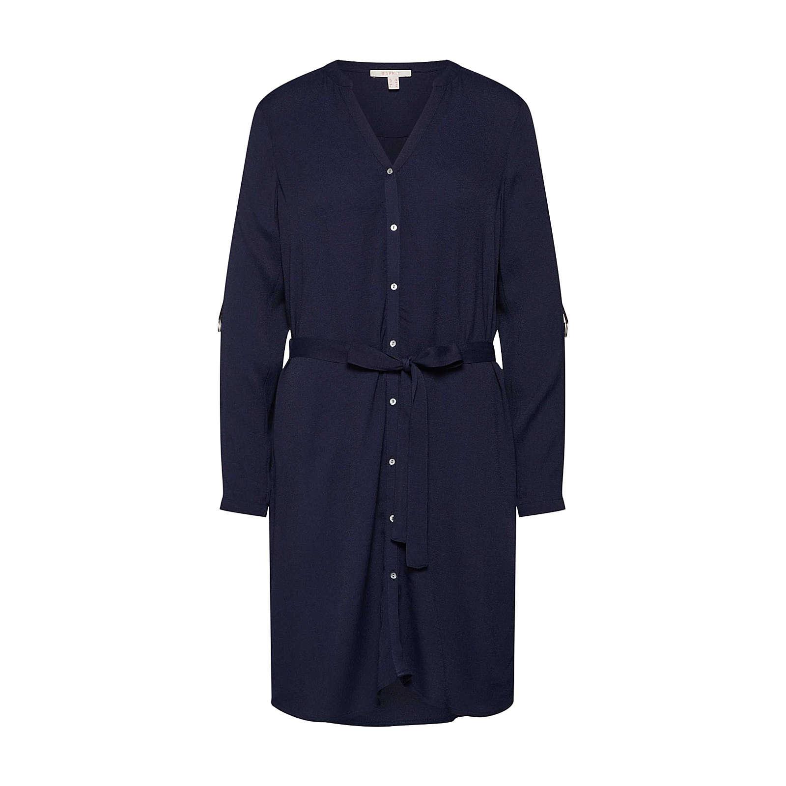 ESPRIT Blusenkleid Blusenkleider weiß Damen Gr. 40