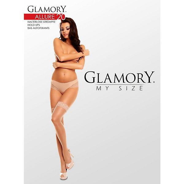 20 Glamory Strümpfe Make Up Halterlose Strumpfhalter Allure 9eDHYIWE2