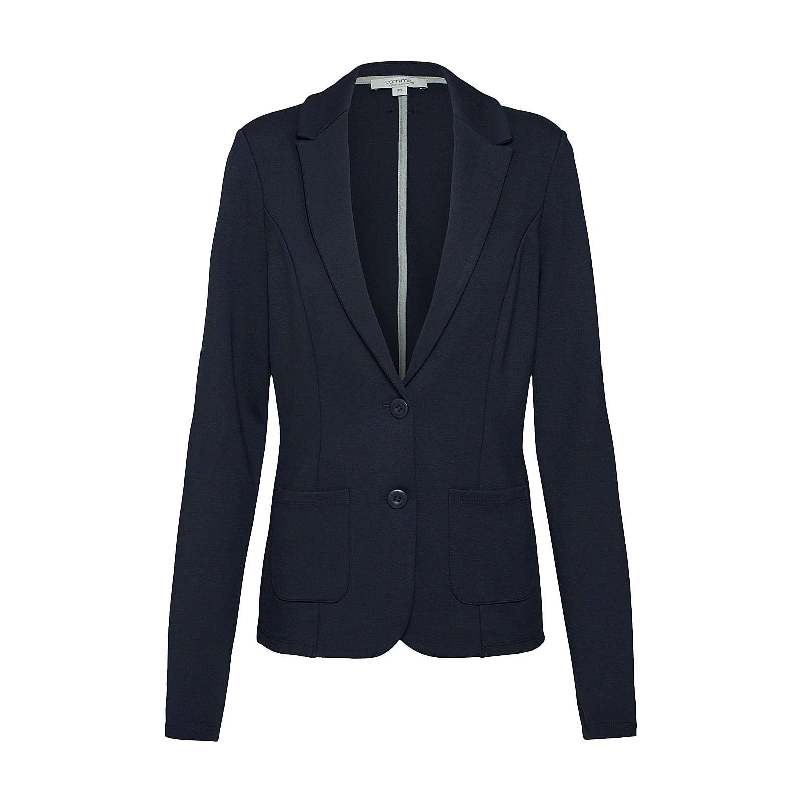 COMMA Blazer Sweatblazer blau Damen Gr. 40