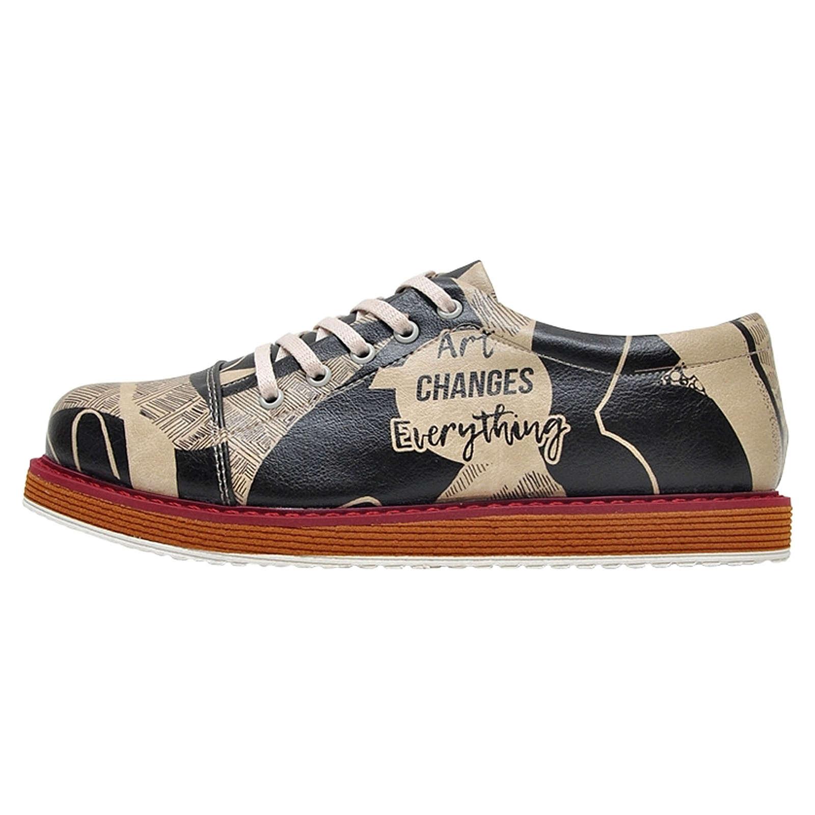 Dogo Shoes DOGO Broke's Art Changes Everything Schnürschuhe mehrfarbig Damen Gr. 38