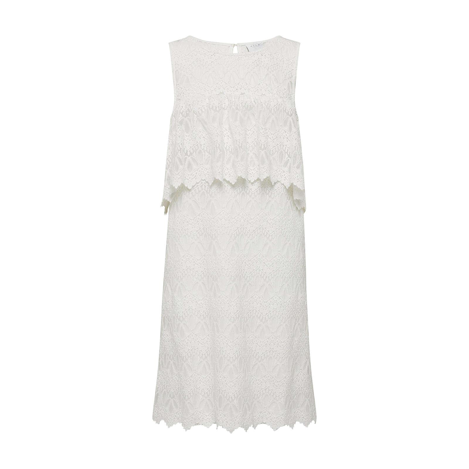 VILA Sommerkleid Sommerkleider weiß Damen Gr. 42