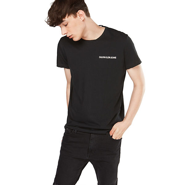 Jeans shirts Logo Tee T Small Chest Schwarz Klein Instit Calvin Shirt E2WYeD9IH