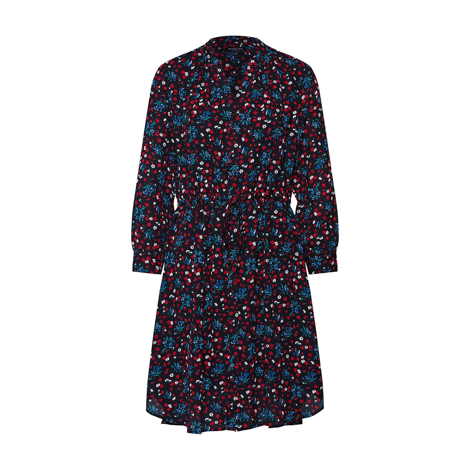 SELECTED FEMME Blusenkleid DAMINA Blusenkleider schwarz Damen Gr. 36