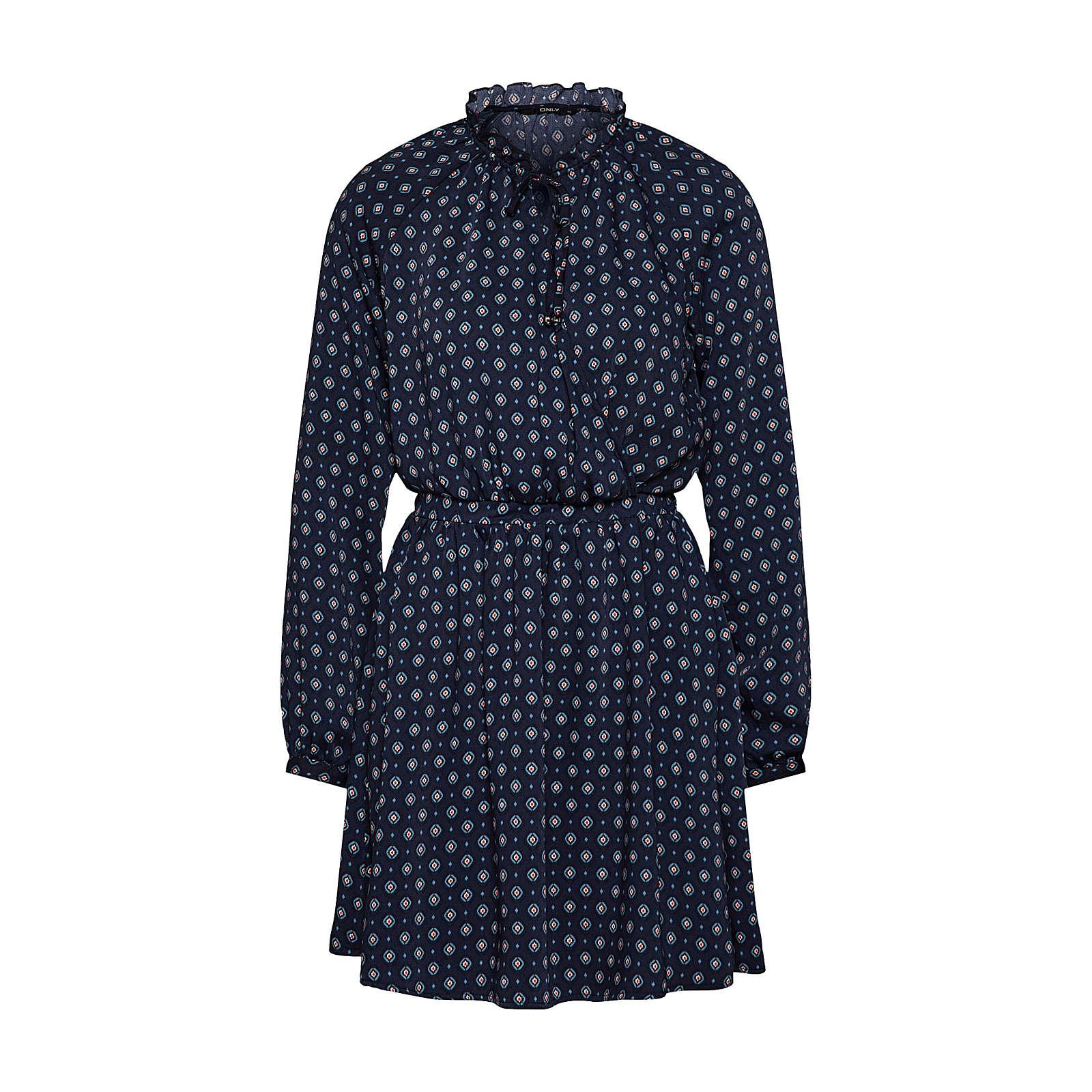 ONLY Blusenkleid Blusenkleider weiß Damen Gr. 40
