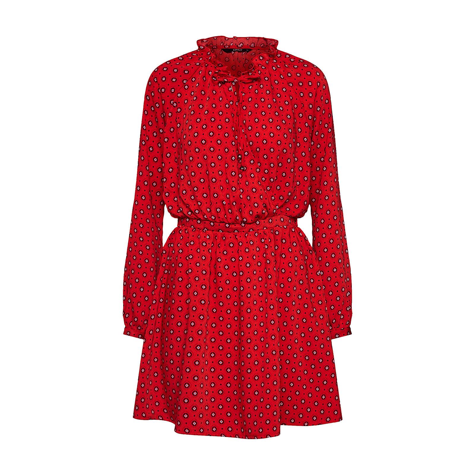 ONLY Blusenkleid Blusenkleider rot Damen Gr. 38