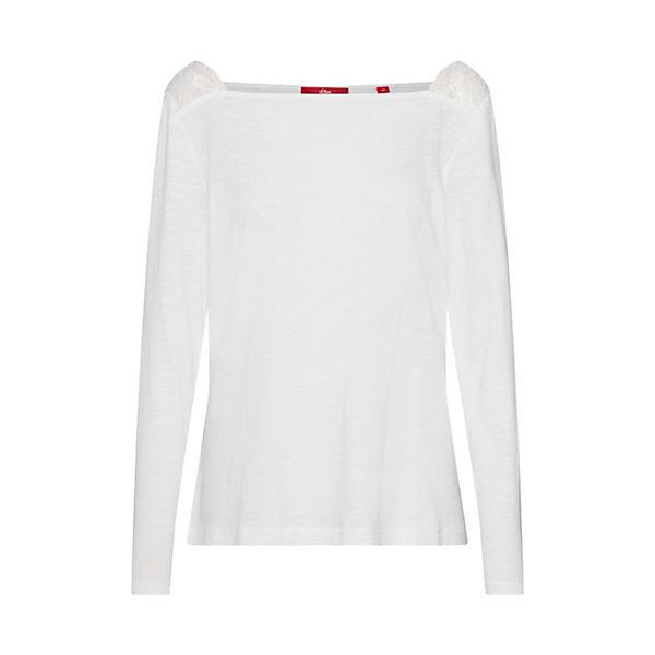 Shirt S oliver Red Label Langarmshirts Creme hrtsCQdx