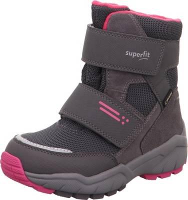 superfit, Winterstiefel SNOWCAT für Mädchen, Weite W5 für breite Füße, GORE TEX, rot