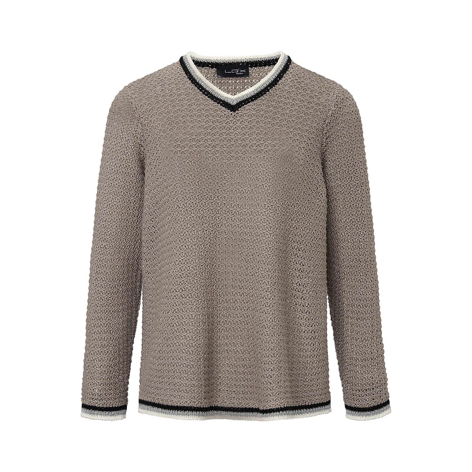LOOXENT V-Pullover V-Pullover Pullover sand Damen Gr. 46