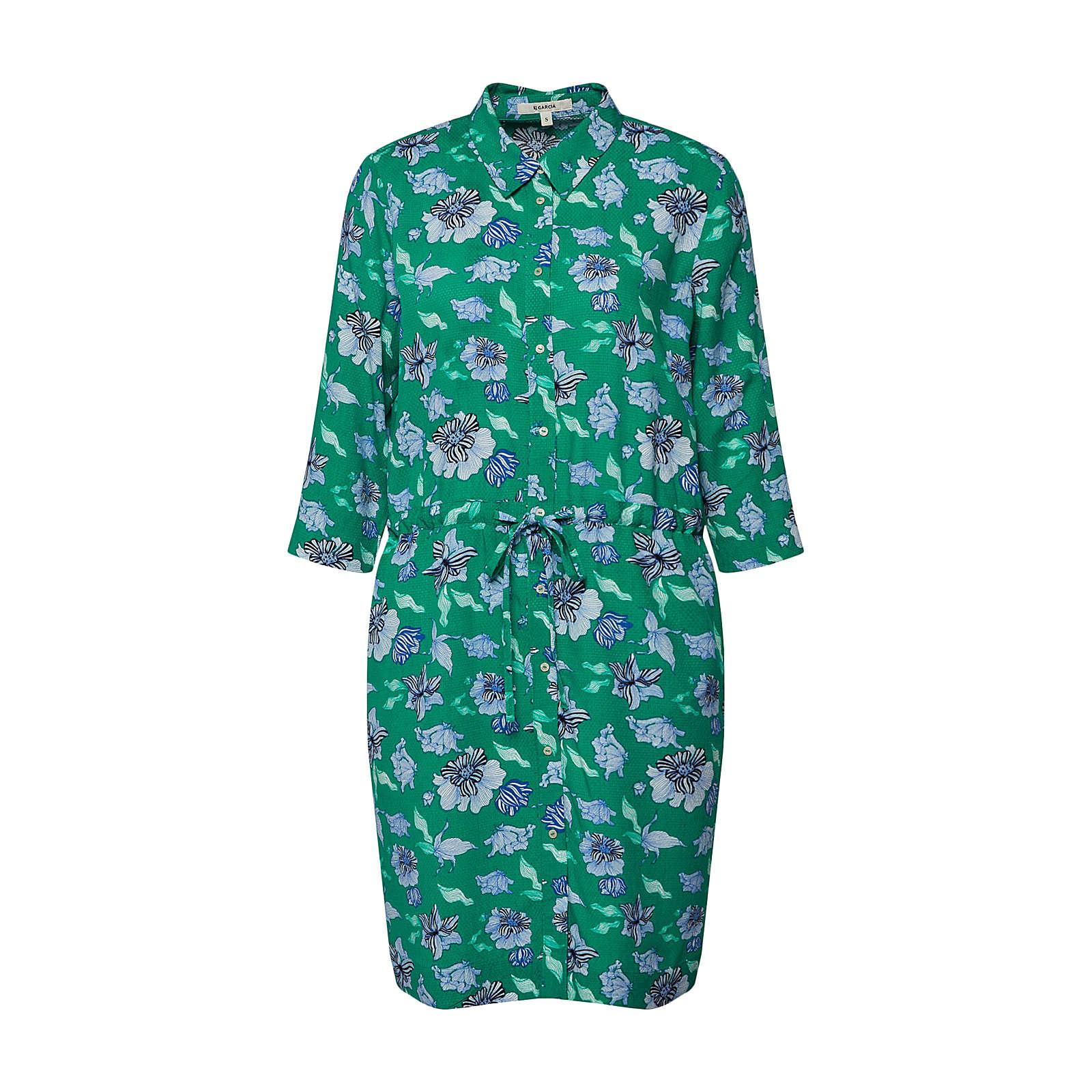 GARCIA Blusenkleid Blusenkleider grün Damen Gr. 38