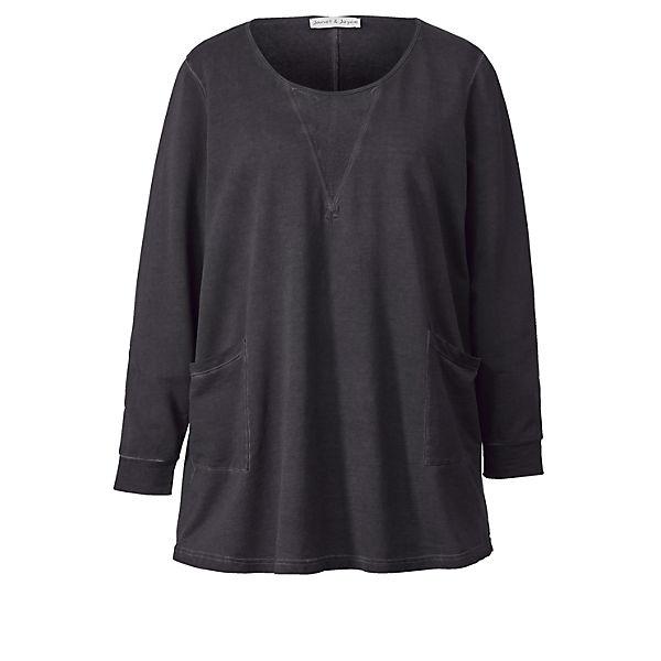 Long sweatshirt Schwarz Joyce Wash Janetamp; Oil QdxtrCsh