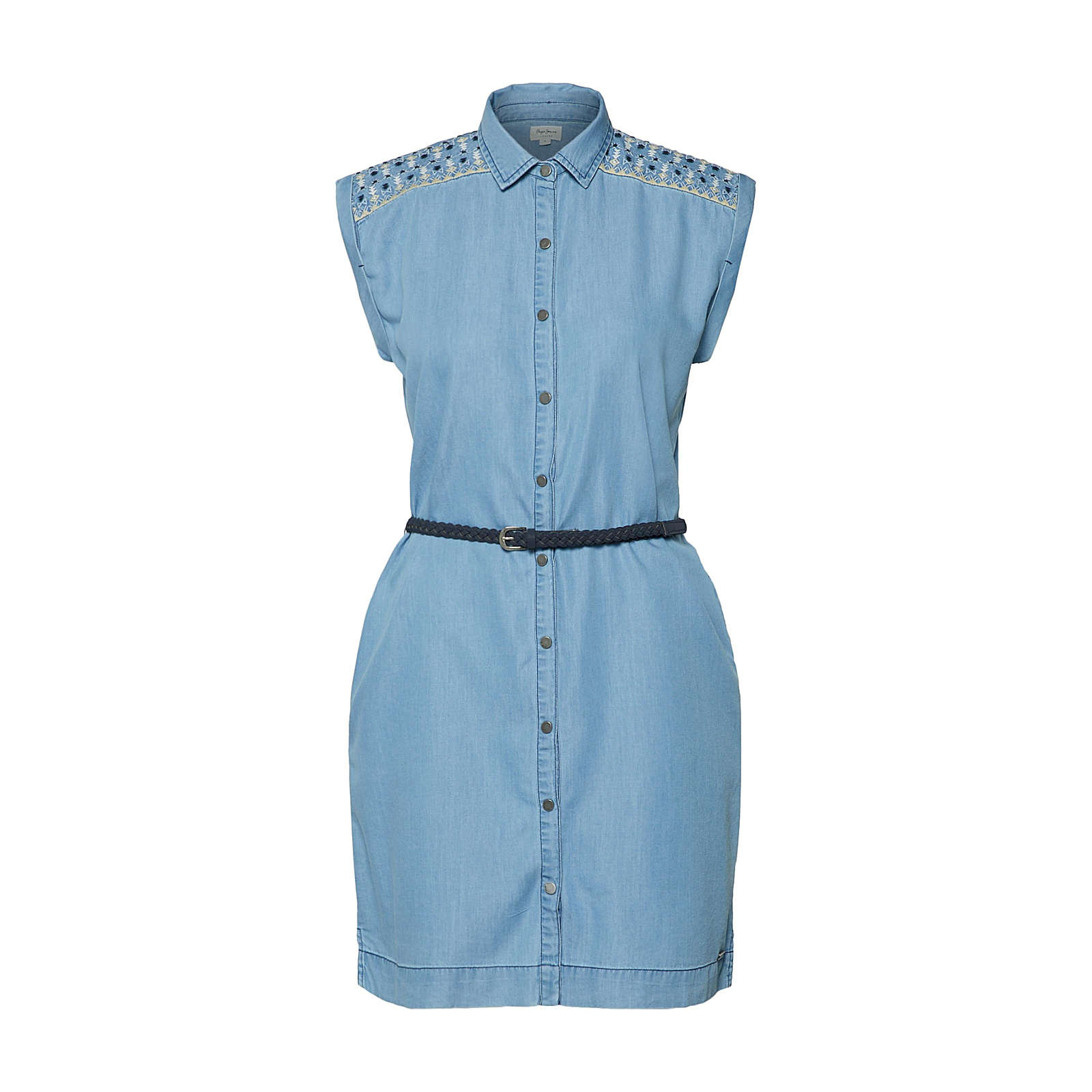 Pepe Jeans Blusenkleid Dora Blusenkleider blau Damen Gr. 38
