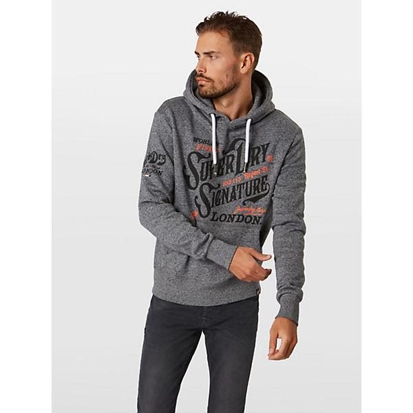 Superdry Flagship Sweatshirts Sweatshirt Hood Schwarz SVqUzMpG