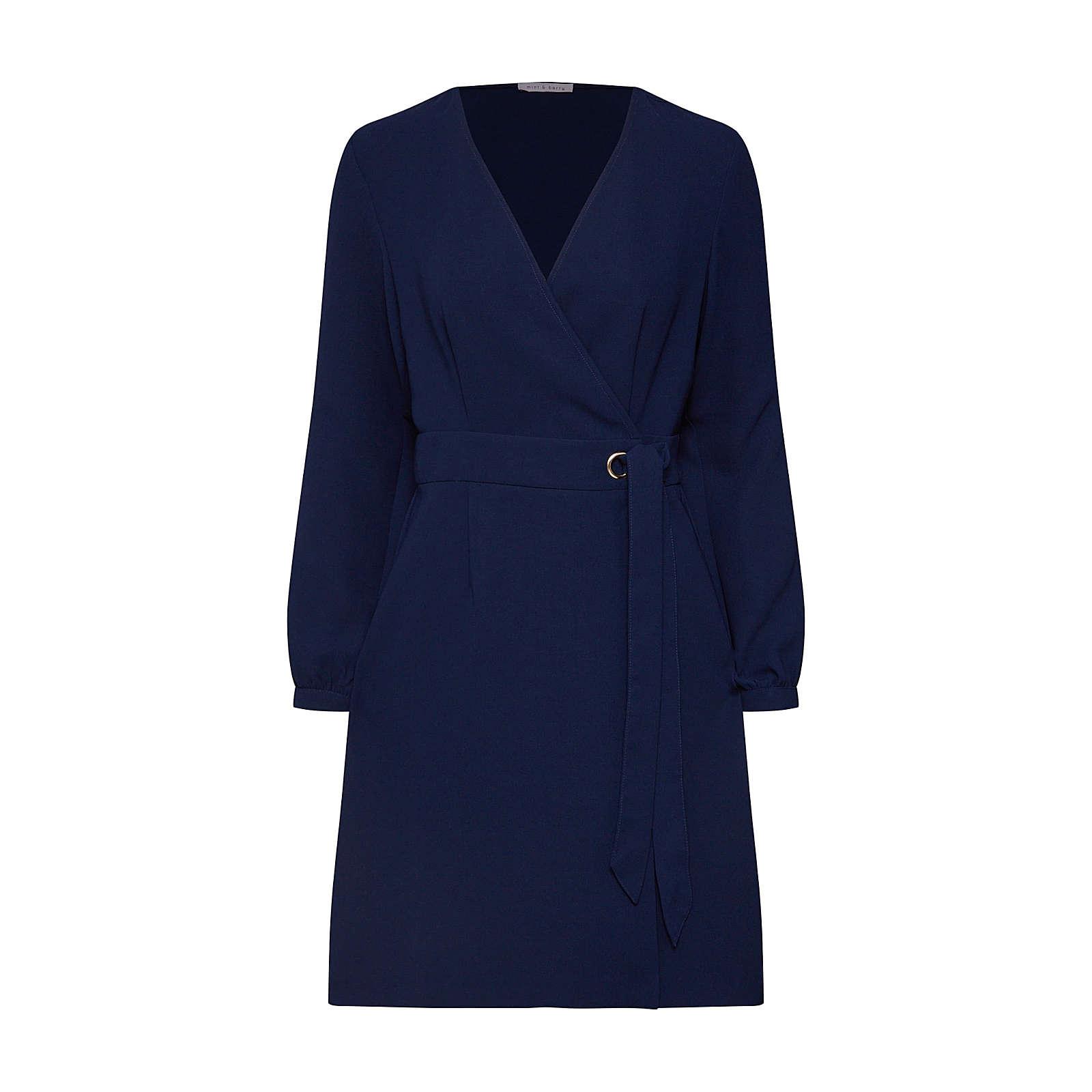 mint&berry Blusenkleid Blusenkleider blau Damen Gr. 38