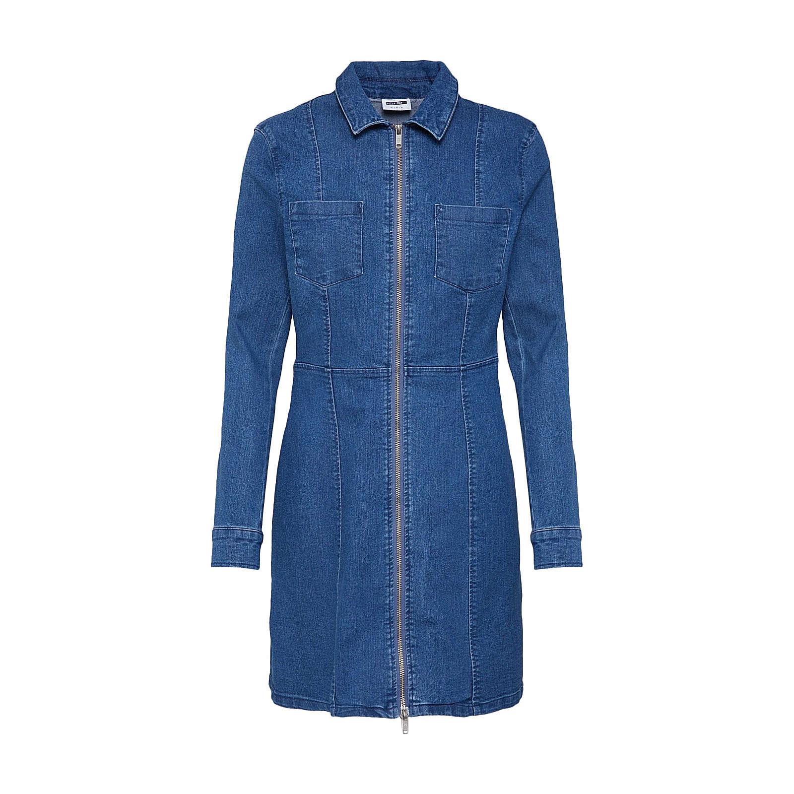 Noisy may Blusenkleid Lisa Blusenkleider blue denim Damen Gr. 38