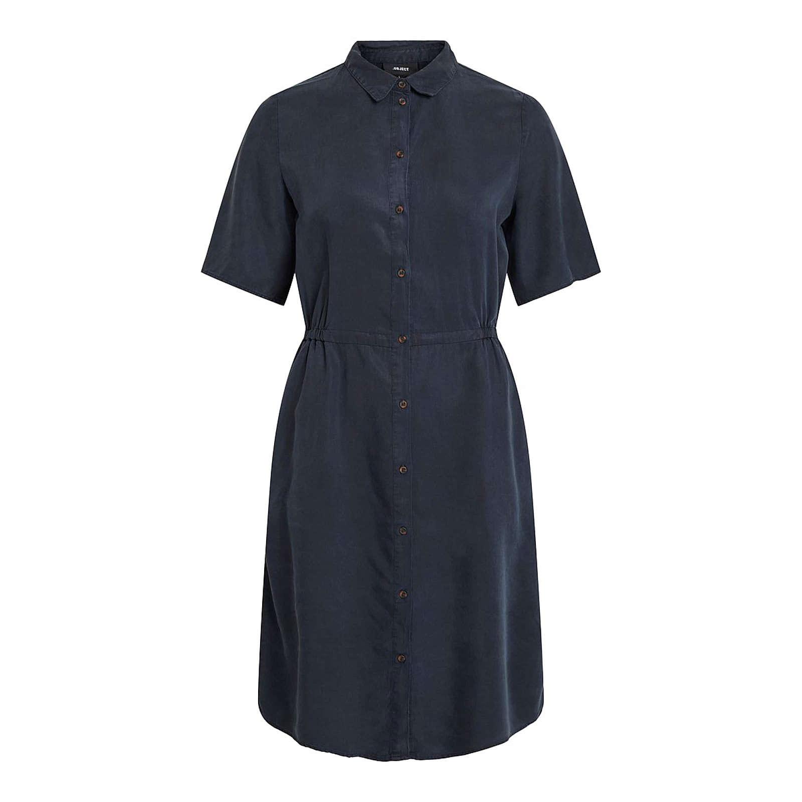 OBJECT Blusenkleid Blusenkleider blau Damen Gr. 34