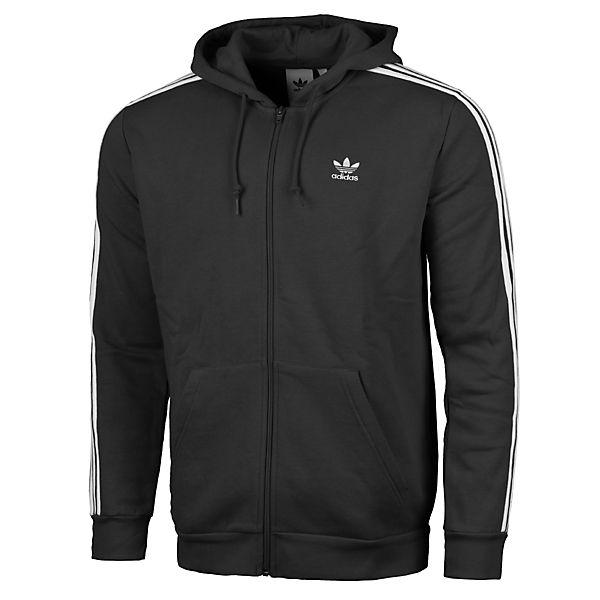 Bekleidung Adidas Full Sweatjacken Originals stripes Hoodie Schwarz Zip 3 rdCexWoQB