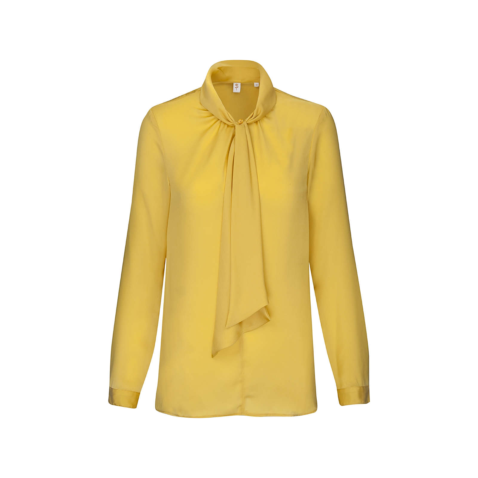 Seidensticker Schluppenbluse Langarm Uni Langarmblusen gelb Damen Gr. 46