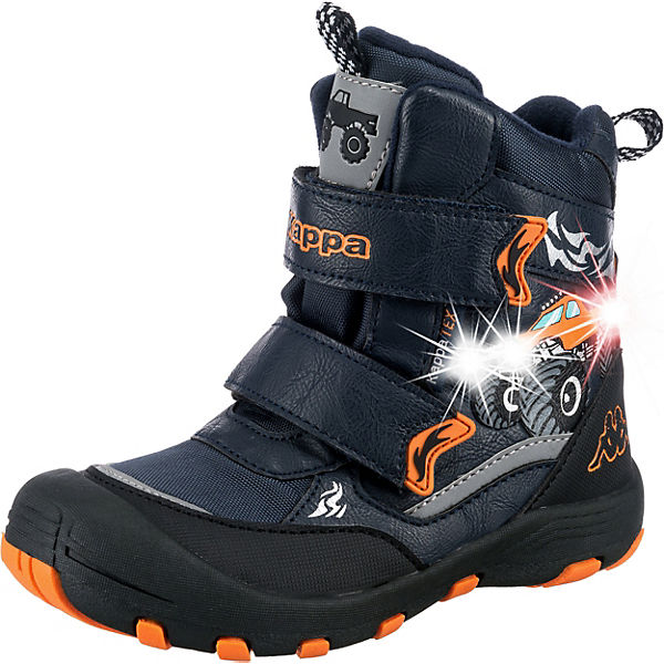 purchase cheap 81fc5 4bfcd Kappa, Winterstiefel BIG WHEEL TEX Blinkies für Jungen, dunkelblau