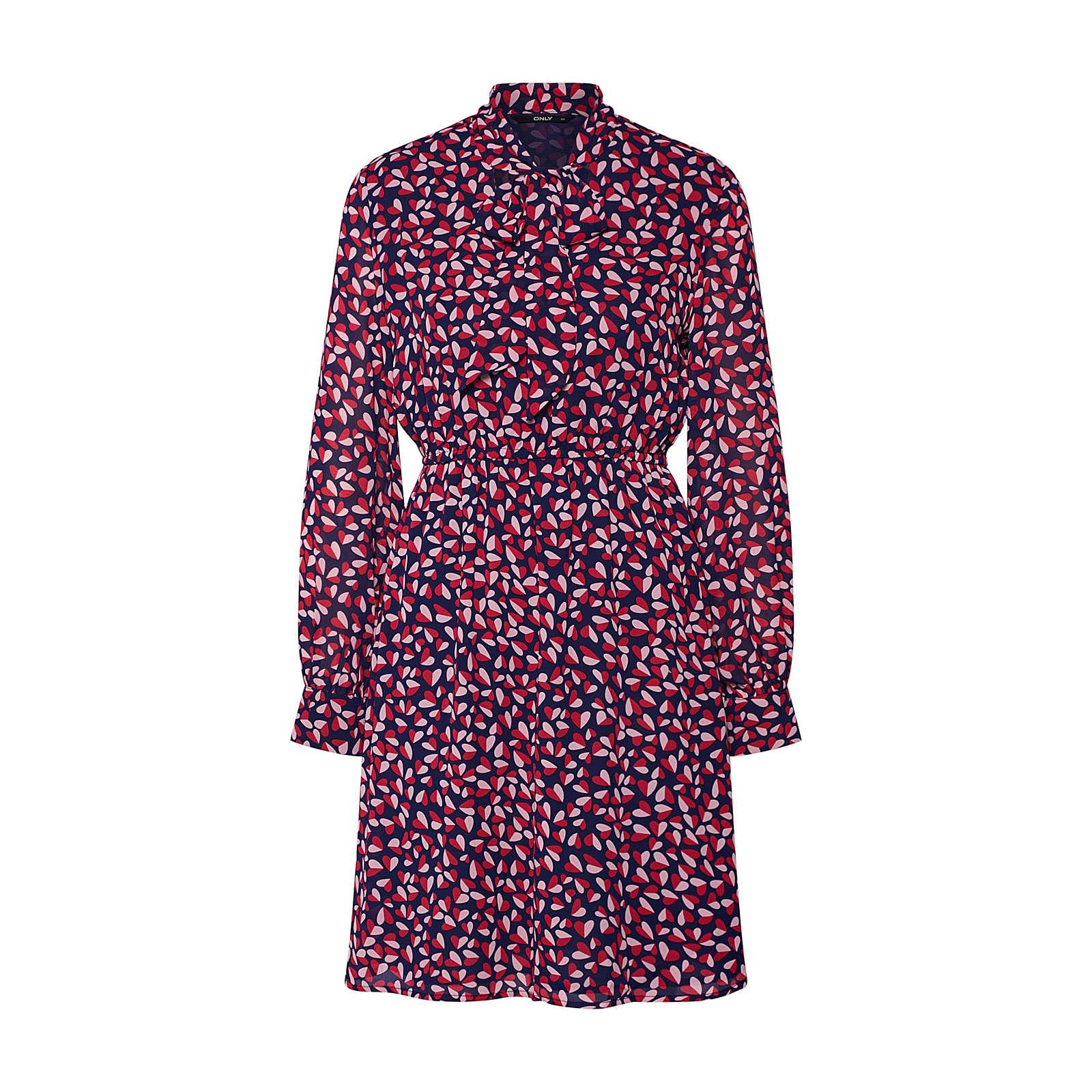 ONLY Blusenkleid LISA Blusenkleider rot Damen Gr. 42